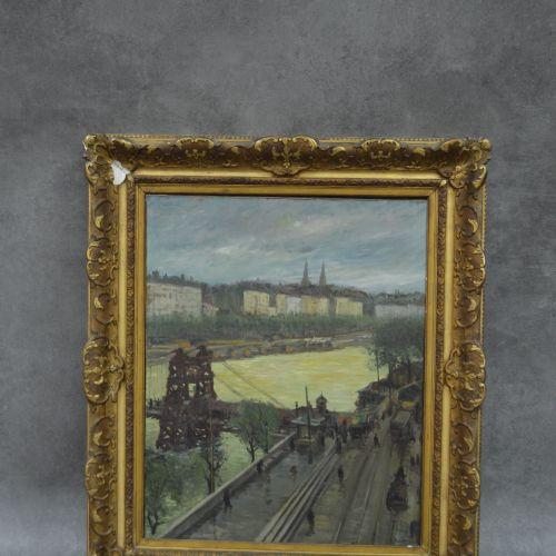 Antoine VILLARD Huile sur toile. Attribuée à Antoine Villard (1867 1934) Les Qua…