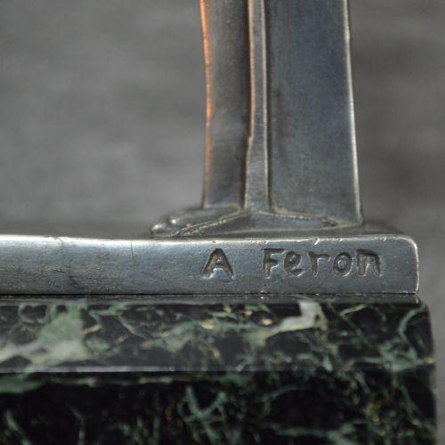 Adam Feron Serre livres signés Adam FERON . Paire de serre livres art déco en ré…