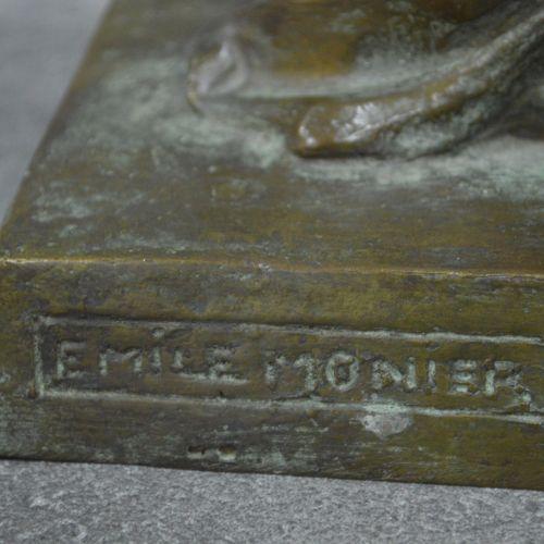 Emile Monier Bronze à patine verte signé Emile MONIER (1883 1970). Année 1930. E…