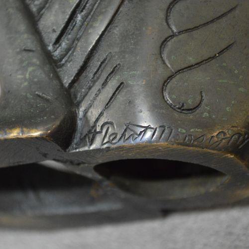 Adolphe Petit Monsigny Bellissima lampada Art Deco in bronzo patinato attribuita…
