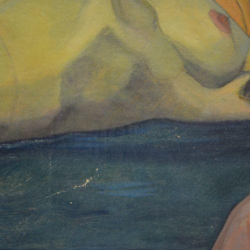 Jean BARB Très belle huile sur toile. Signée J. Barb ( Jean Barb 1904 1989). Fem…