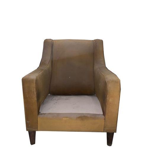 Paire de fauteuils Paire de fauteuils . Tissu en velours côtelé compris accoudoi…