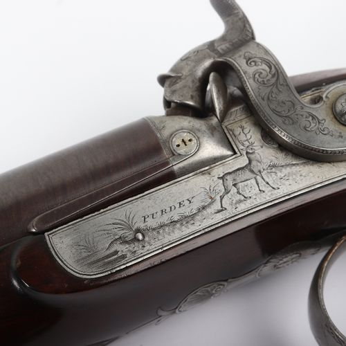16 Bore Double Barrelled Percussion Sporting Rifle by James Purdey, No.248916 Bo…