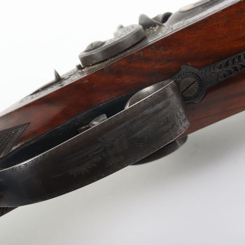 Good Double Barrelled Percussion Cape Rifle by Joseph Bourne No. 3187Good Double…