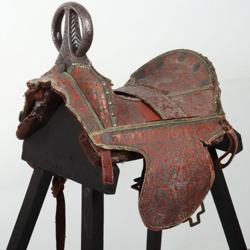 Fine and Scarce North Indian Saddle, Probably Late 19th or Early 20th CenturyFin…