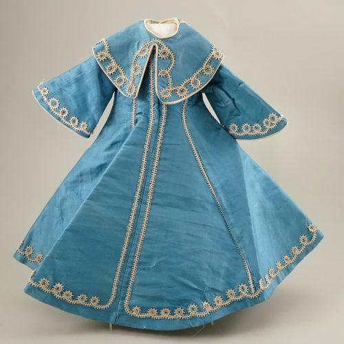 A good blue silk dolls dress for Bru Jne, French 1880s, A good blue silk dolls d…