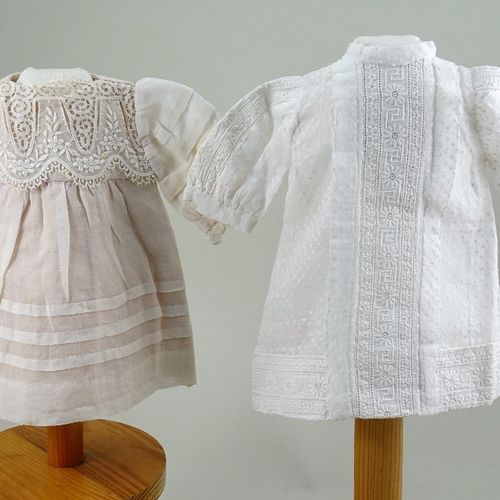Two original doll dresses, French circa 1890, Two original doll dresses, French …