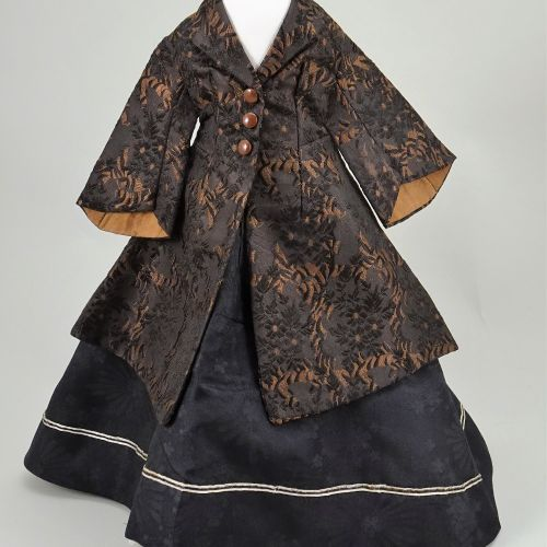 An 1860s 70s style winter outfit for French fashion doll, An 1860s 70s style win…