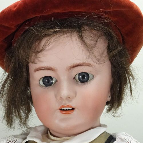 A large DEP bisque head doll, German for French market, circa 1910, A large DEP …