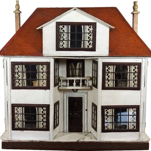 A large and impressive Lines Bros Triang painted wooden dolls house, English 192…