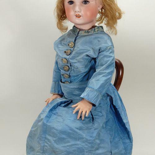 A large S.F.B.J bisque head doll, French, circa 1910, A large S.F.B.J bisque hea…