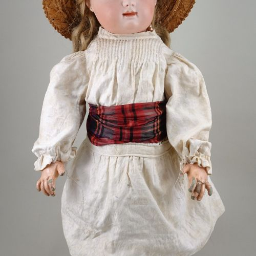 A large Radery & Delphieu bisque head Bebe doll, French circa 1885, A large Rade…