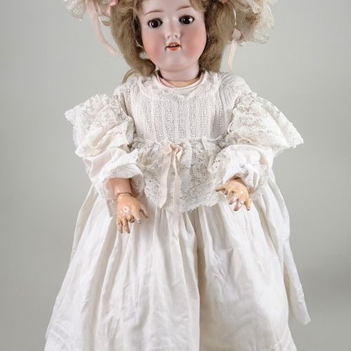 An A.M 390 bisque head doll, German circa 1910, An A.M 390 bisque head doll, Ger…