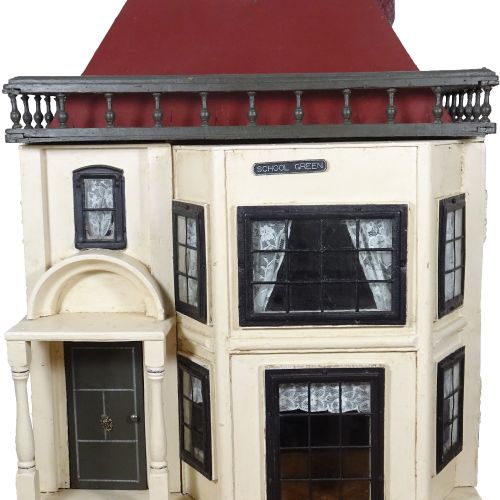 A G & J Lines painted wooden dolls house, circa 1910, A G & J Lines painted wood…