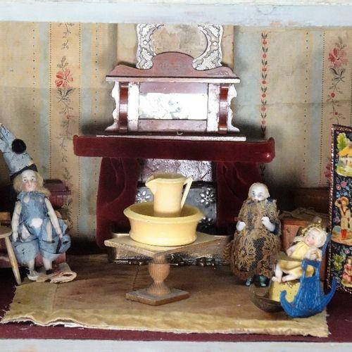 'Barnard castle' painted wooden dolls house, English 1888, 'Barnard castle' pain…