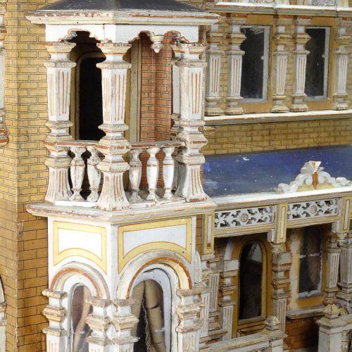 A large and impressive Moritz Gottschalk blue roof dolls house model: 2556/2 in …