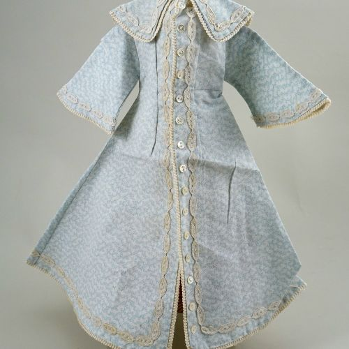 A good light blue and cream cotton dress for size 6 French Bru Jne, 1880s, A goo…