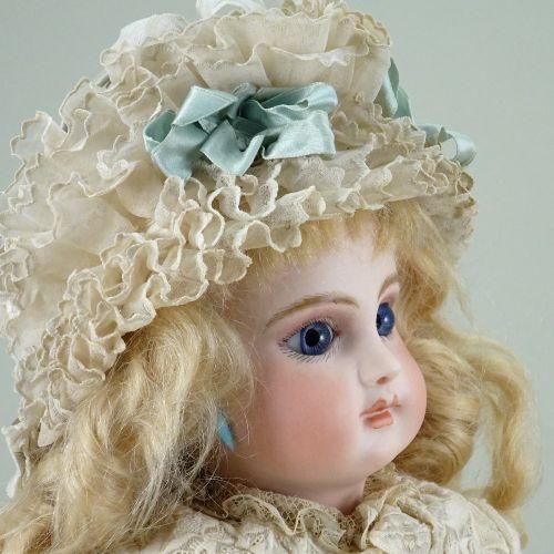An early Emile Jumeau bisque head E.J Bebe doll, size 6, French circa 1880, An e…