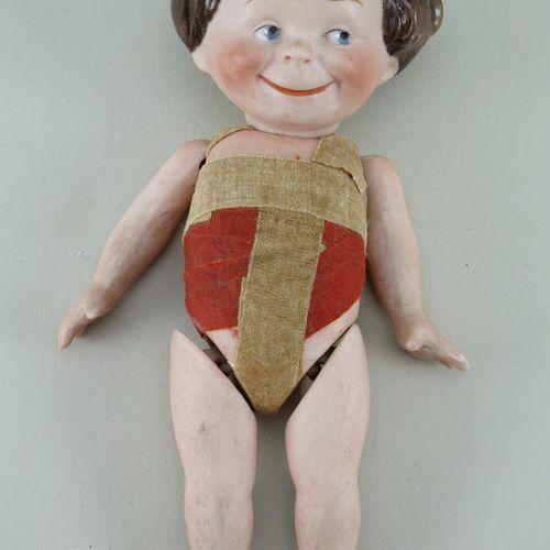 A rare Kestner all bisque 'Max' character doll, German circa 1910, A rare Kestne…
