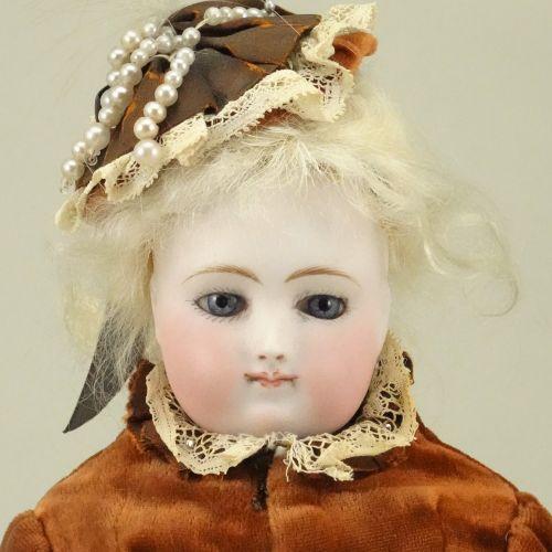 A good bisque head fashion doll, French circa 1870, A good bisque head fashion d…