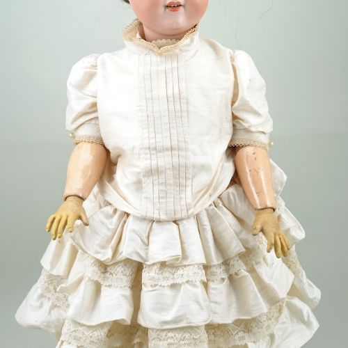Large A.M 390 bisque head doll, German circa 1910, Large A.M 390 bisque head dol…