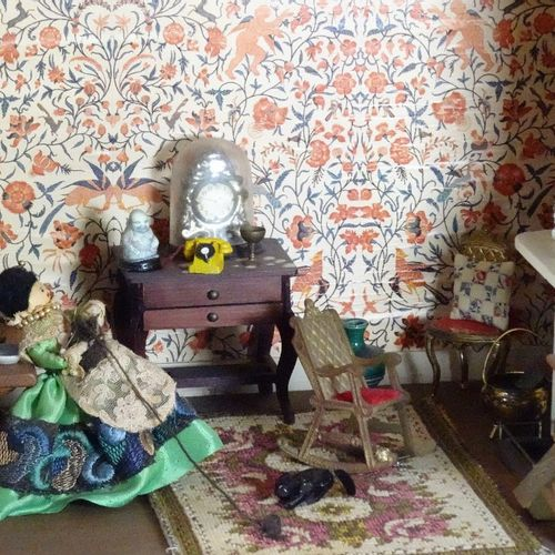 A large Tudor style painted wooden dolls house, English 20th century, A large Tu…