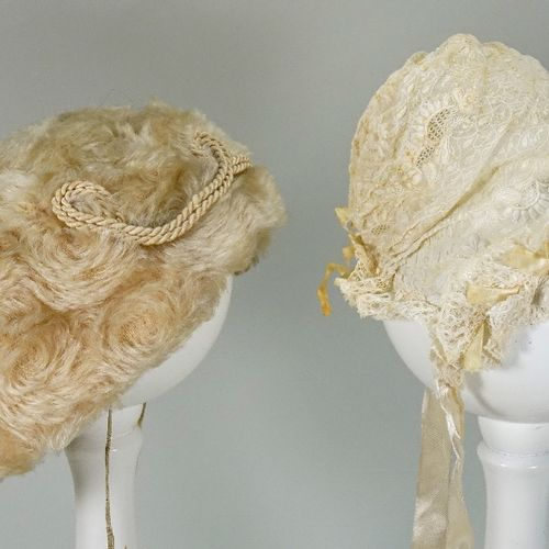 A white fur children's hat, late nineteenth century, A white fur children's hat,…