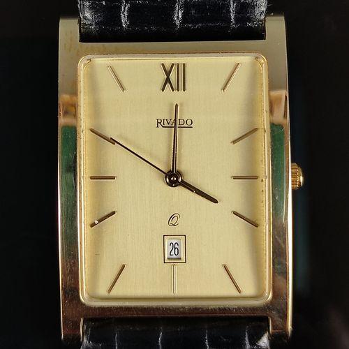 Rivado手镯表,585/14K黄金,石英,总重26克
