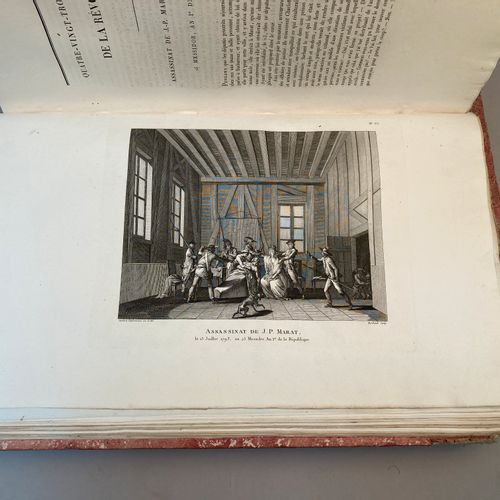 CHAMFORT, PAGES, GINGUENE, etc..  Collection complète des tableaux historiques d…