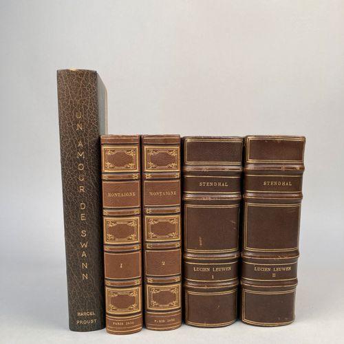 LITTERATURE.  Réunion de 5 volumes bien reliés.     STENDHAL : Lucien Leuwen. Il…
