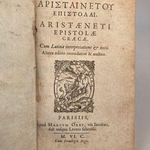 ARISTAENETUS.  Arsitæneti Epistolæ Græcæ. | Cum Latina interpretatione notis. | …