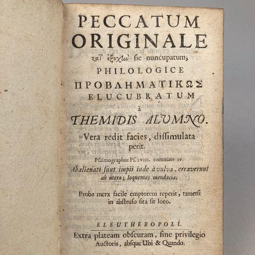 BEVERLAND, Adrian.  Recueil composé de trois textes rares de Beverland.  In 12, …