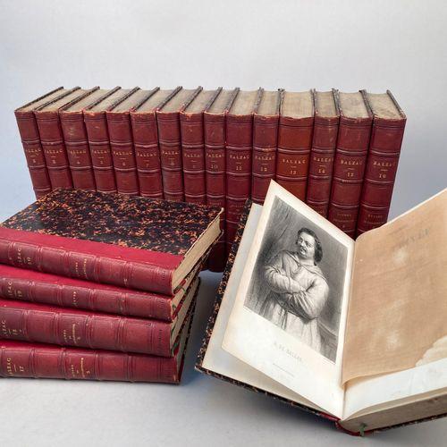 BALZAC, Honoré de .  Oeuvres complètes.  Paris, Houssiaux, 1853 1855.  20 volume…