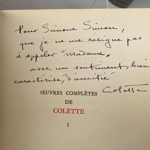 COLETTE.  Oeuvres complètes.  Paris, Flammarion, Collection Le Fleuron.  15 volu…