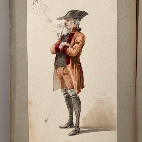 COMELLI, Attilio.  Costumes et accessoires pour le Werther de Jules Massenet.  3…