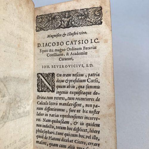BEVERWYCK, Jan van.   De Calculo Renum et Vesicæ, liber singularis, cum epistoli…