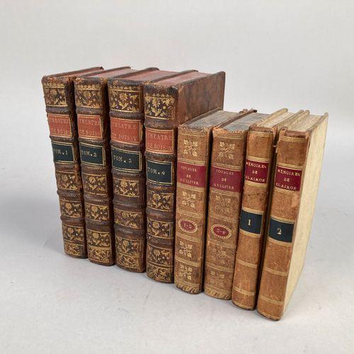LITTERATURE XVIIIème et XIXème.  Réunion de 8 volumes :     SWIFT: Voyages de Gu…