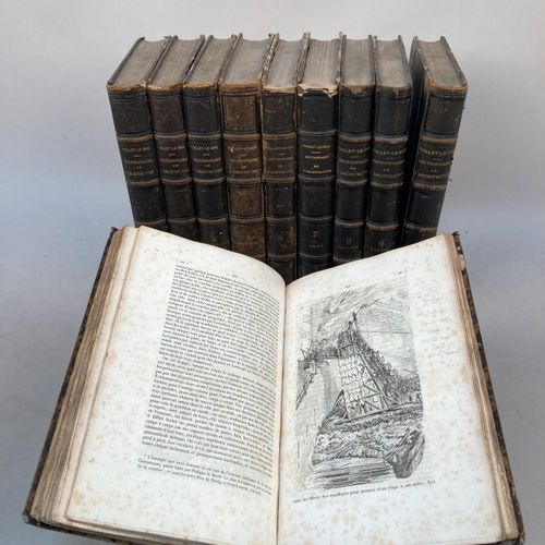 VIOLLET LE DUC.  Dictionnaire raisonné de l'architecture française du XIème au X…