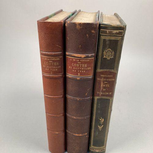 LITTERATURE.  Réunion de 2 ouvrages illustrés.   LA FONTAINE  Les Contes et Nouv…