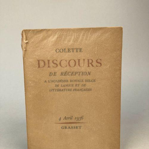 COLETTE. Discours de réception à l'Académie Royale Belge de langue et littératur…