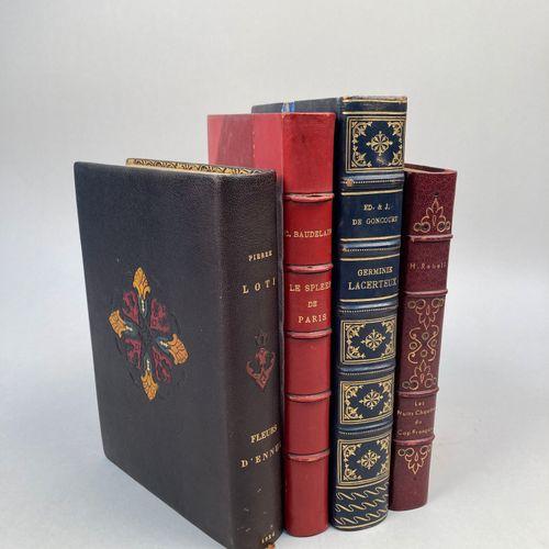 LITTERATURE XIX XXème.  Réunion de 4 volumes.     Charles BAUDELAIRE: Le spleen …
