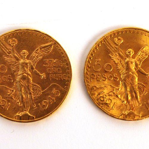 2枚金币50比索  1945年和1947年  重量:83.3克