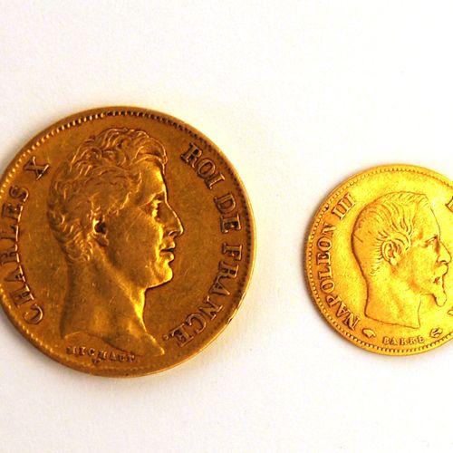 1830年的40法郎硬币和1859年的10法郎硬币  重量 : 15,9