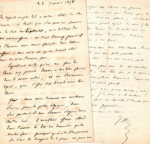* Pierre Jules HETZEL (1814 1886) éditeur et écrivain. 2 L.A.S. « J H », Bruxell…