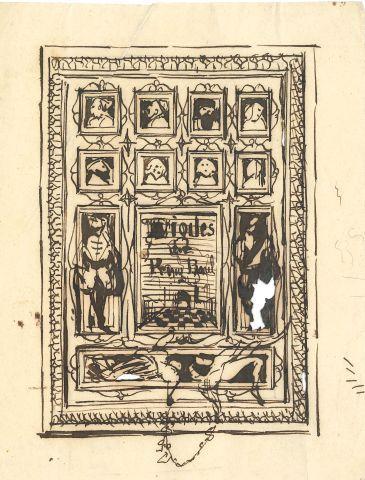 * Célestin NANTEUIL (1813 1873). DESSIN original à la plume ; 17 x 13,5 cm (peti…