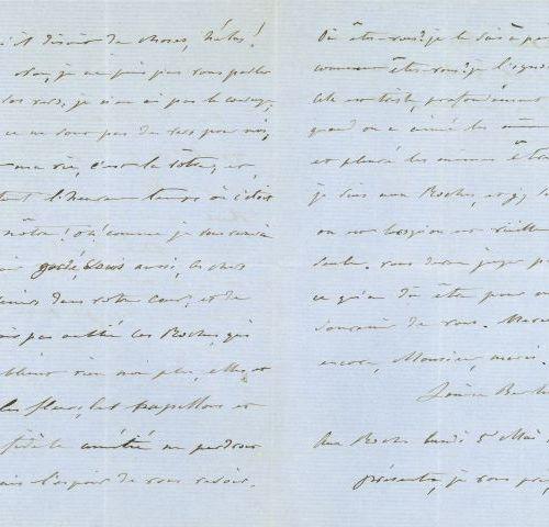 * Louise BERTIN (1805 1877) compositrice. L.A.S., aux Roches 5 mai 1856, à Victo…