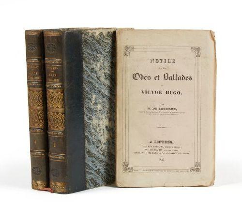 * HUGO (Victor). Odes et ballades. Paris, Gosselin, Bossange, 1829, 2 vol. In 8,…