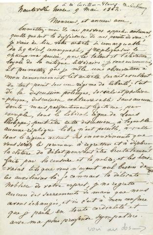 * Adèle HUGO (1830 1915) fille du poète, devint folle. Copie autographe d'une le…