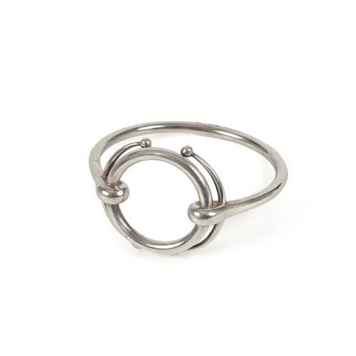 HERMES Paris  Bracelet rigide en argent.  Signé.  Poids : 65 g