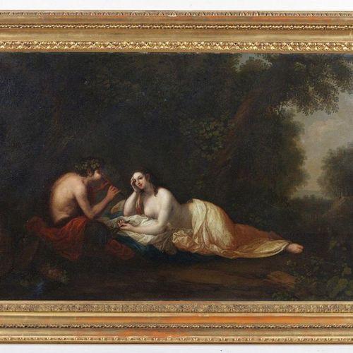 18th CENTURY FRENCH ARTIST 18th CENTURY FRENCH ARTIST Satyr entertaining in nymp…